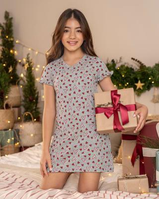 girls printed sleep dress with ruffle sleeves-145- Estampado-MainImage