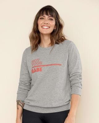 camiseta manga larga con estampado localizado de cuello redondo-462- Gris-MainImage