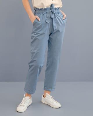 pantalon tobillero con cinturon en tela para anudar-052- Indigo-MainImage