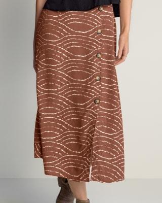falda midi silueta amplia con botones decorativos-145- Estampado-MainImage