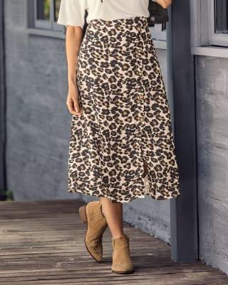 falda midi silueta amplia con botones decorativos-167- Estampado-MainImage