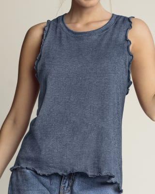 camiseta manga sisa con manga y ruedo entorchados-512- Azul-MainImage