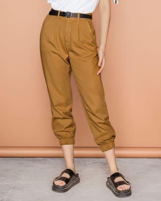 pantalon amplio en algodon enresortado en piernas-606- Arena-MainImage