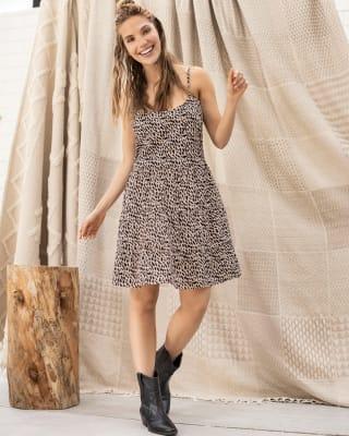 vestido corto de tiritas anudable en espalda-145- Estampado-MainImage
