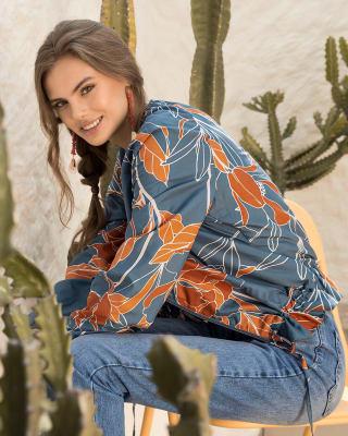 chaqueta cuello redondo con cierre frontal-145- Estampado-ImagenPrincipal