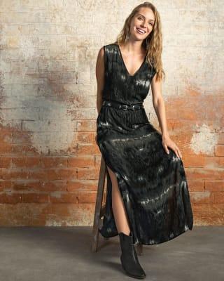 vestido manga sisa largo de silueta amplia--MainImage