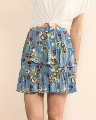 falda corta estampada de silueta amplia-517- Azul Estampado-MainImage