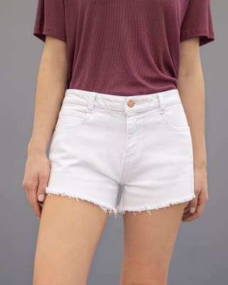 short corto de silueta ajustada y bolsillos funcionales-002- Blanco-MainImage