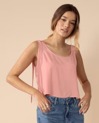 blusa de tiritas con cargaderas ajustables silueta crop top--MainImage