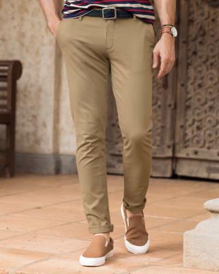 pantalon texas silueta semi ajustada-381- Caqui-MainImage