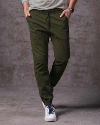jogger londres pantalon de hombre-605- Verde Militar-MainImage