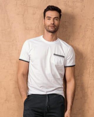 camiseta manga corta con punos tejidos-000- Blanco-MainImage