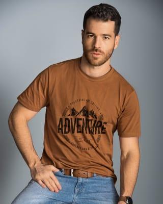 camiseta manga corta  camibuzo para hombre-978- Café Gris-MainImage