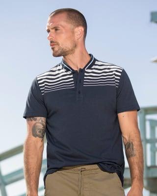 camiseta henley con estampado en frente-509- Azul-MainImage