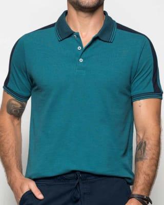 camiseta tipo polo silueta semiajustada-052- Azul-MainImage