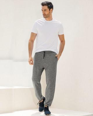 pantalon jogger para hombre con bolsillos laterales-717- Gris Jaspe-MainImage