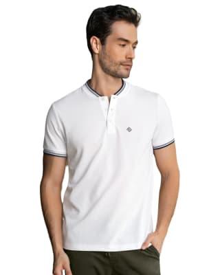 camiseta henley con bordado en frente silueta semiajustada-000- Blanco-MainImage
