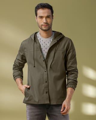 chaqueta manga larga con bolsillos funcionales para hombre-603- Verde Militar-MainImage
