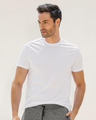 camiseta para hombre manga corta silueta semiajustada-000- White-MainImage