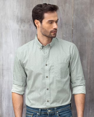 camisa estampada manga larga con bolsillo funcional-001- Flores-MainImage