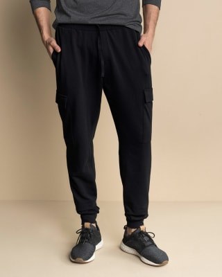 pantalon jogger para hombre con bolsillos laterales funcionales-700- Black-MainImage