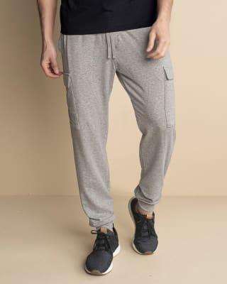 pantalon jogger para hombre con bolsillos laterales funcionales-717- Gris Jaspe-MainImage