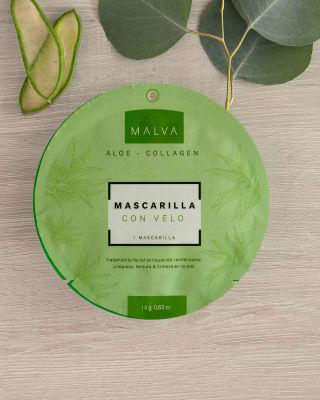 mascarilla con velo aloe-Aloe/Collagen-MainImage