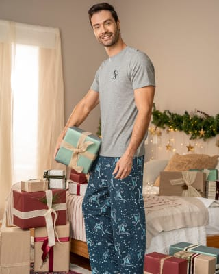 pantalon largo de pijama para hombre - algodon-145- Estampado-MainImage