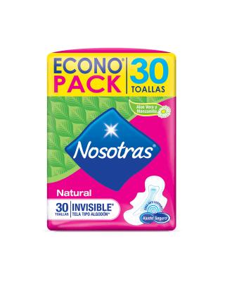 toallas higienicas nosotras natural invisible tela-Sin Color-MainImage