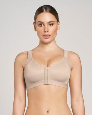 doctor-recommended post-surgical wireless bra with front closure-802- Nude-MainImage