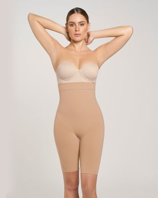 post-surgical step-in waist-to-thigh body shaper-087- Beige-MainImage