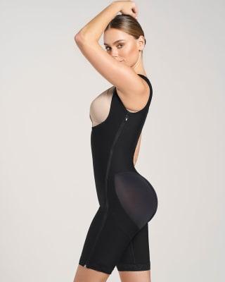 body postquirurgico de busto libre con control desde la cintura hasta las rodillas-700- Black-ImagenPrincipal