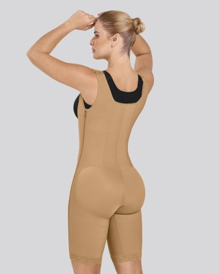 waist-to-knee open bust firm post-surgical body shaper-880- Nude-MainImage