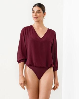 blusa con body interno con control moderado de abdomen-349- Vino-MainImage