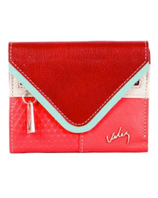 billetera femenina en cuero para mujer - velez-302- Rojo-MainImage