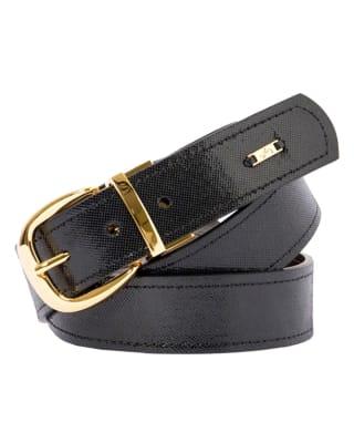 cinturon doble faz femenino brillante por un lado y marron solido por el reves - velez-190- Doble Faz Cafe Esta-MainImage