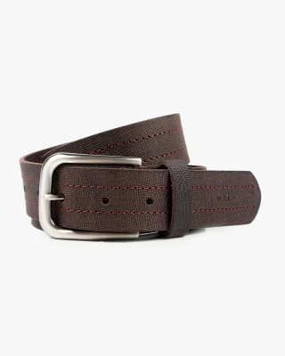 cinturon unifaz masculino costuras decorativas - velez-835- Café-MainImage