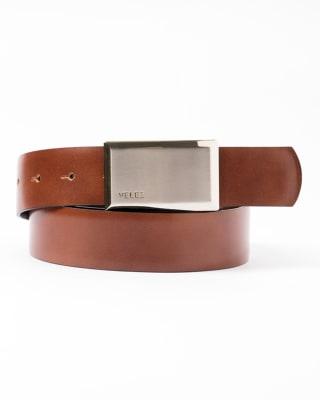 cinturon doble faz masculino texturizado en un lado y liso en el otro - velez-802- Café Claro-MainImage