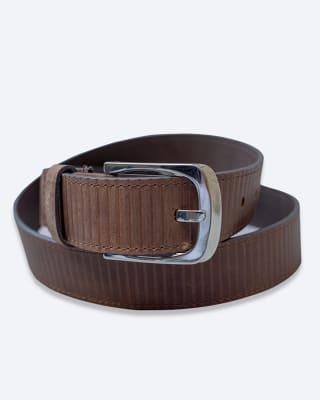 cinturon masculino con hebilla brillante - velez-835- Café-MainImage