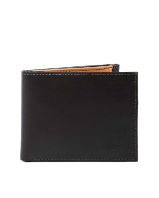 billetera masculina en contraste con color interno - velez-835- Café Oscuro-MainImage