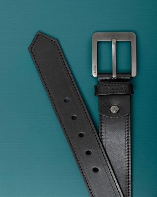 cinturon unifaz masculino con pespuntes en contraste-700- Black-MainImage