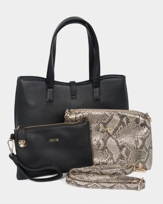 bolso tipo shopping femenino - nappa-700- Black-MainImage