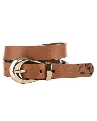 cinturon femenino con impreso grafico floral - velez-802- Miel-MainImage