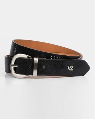 cinturon doble faz femenino lado plano y otro con taches - velez-700- Negro-MainImage