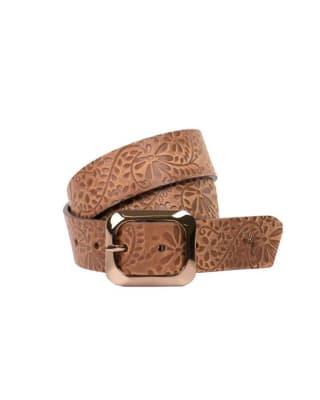 cinturon unifaz femenino con toque vintage-802- Miel-MainImage