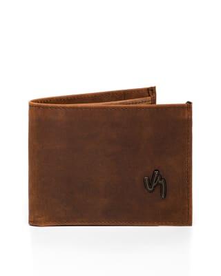billetera masculina de cuero con apariencia vintage velez-835- Cafe-MainImage