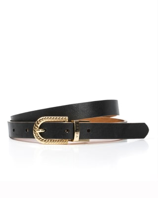 cinturon femenino con hebilla reversible dorada velez-700- Negro-MainImage