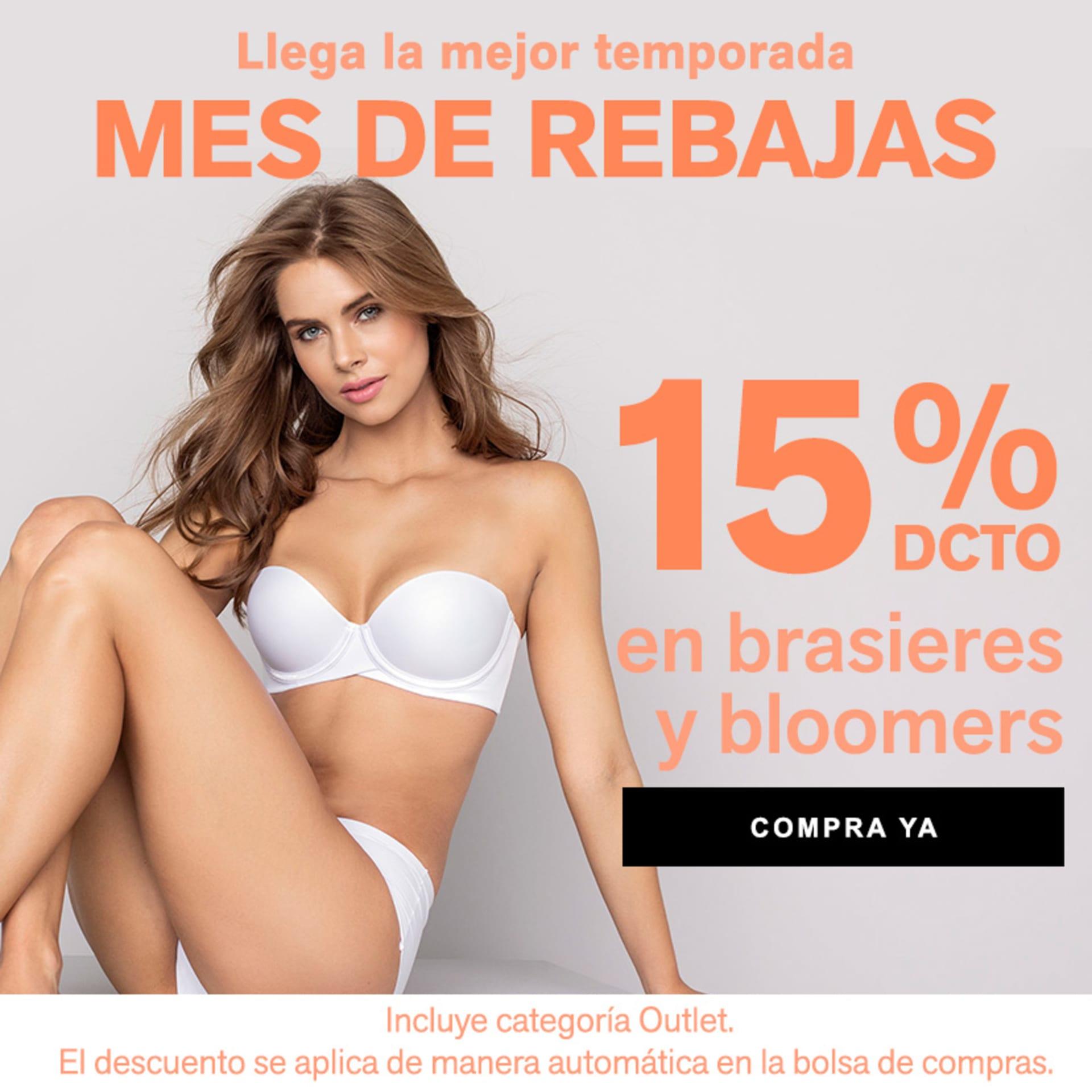 15% DCTO en brasieres y bloomers
