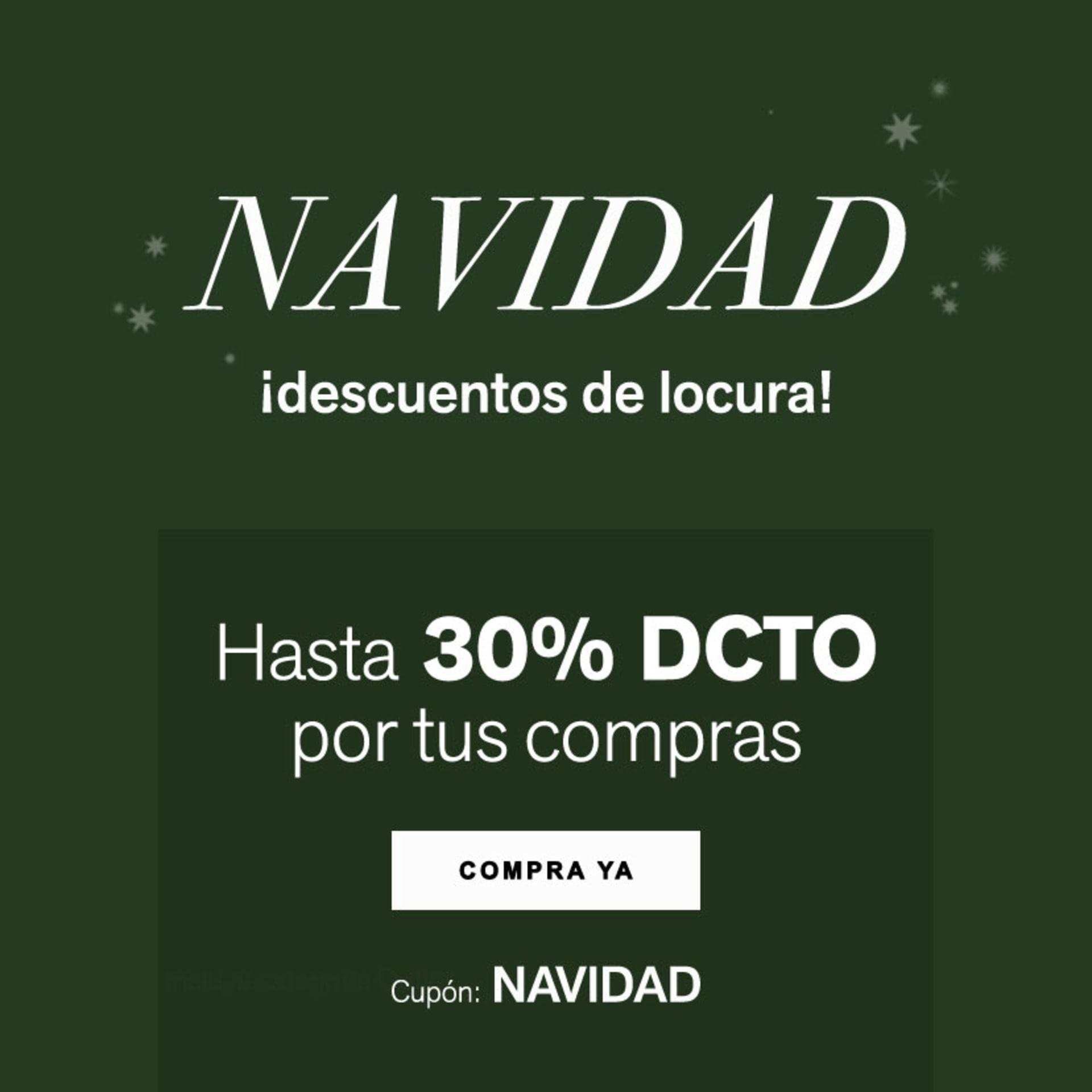 Oferta de Navidad Hasta 30% DCTO