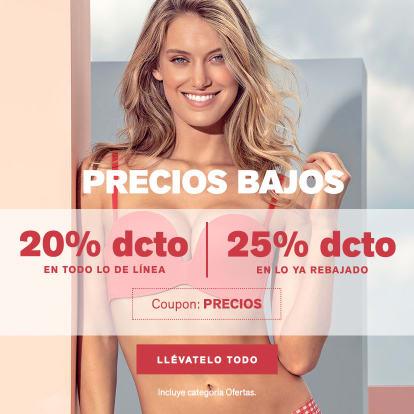 Precios Bajos Hasta 25% DCTO*